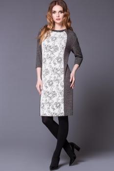 Платье Noche Mio 1.187 Молочный/Серый