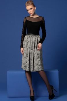Платье Noche Mio 1,938 Черный/Серый