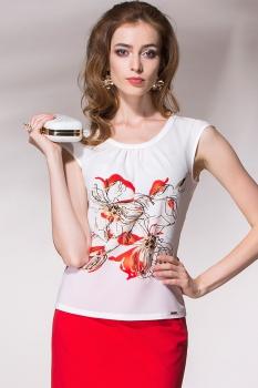 Блузка Noche Mio 6.106 Молочный/Красный