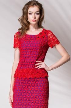 Блузка Noche Mio 6.116 Красный