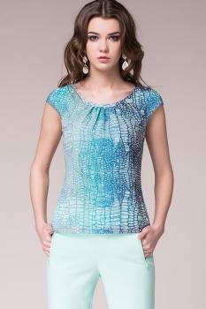 Блузка Noche Mio 6.816-4 Синие тона