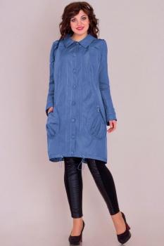 Куртка Новелла Шарм 2506-с синие тона