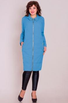 Куртка Новелла Шарм 2517-1 голубые тона