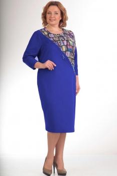 Платье Новелла Шарм 2615-1 синие тона