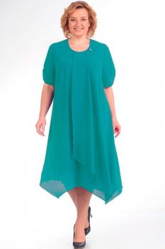 Платье Новелла Шарм 2759-1 бирюзовые тона