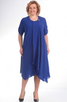 Платье Новелла Шарм 2759 синие тона