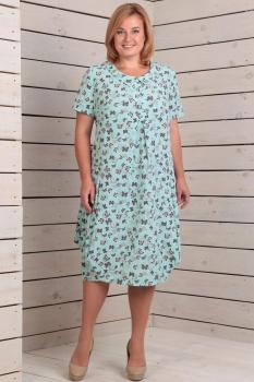 Платье Новелла Шарм 2762-1 мята+бабочки