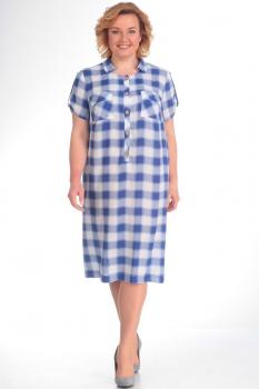 Платье Новелла Шарм 2772 синяя клетка