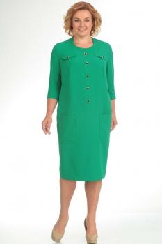Платье Новелла Шарм 2782-1 зеленые тона