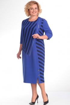 Платье Новелла Шарм 2785 синий+полоска