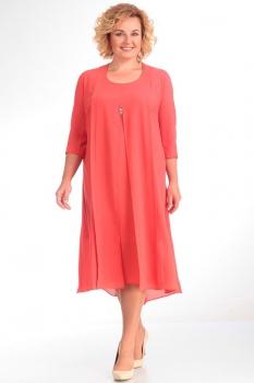 Платье Новелла Шарм 2789 коралл
