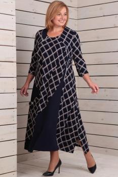 Платье Новелла Шарм 2802 черный+клетка