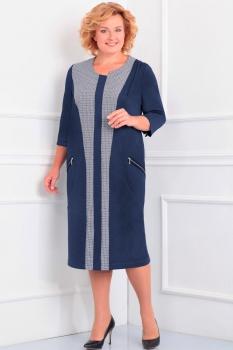 Платье Новелла Шарм 2803-1 темно-синий
