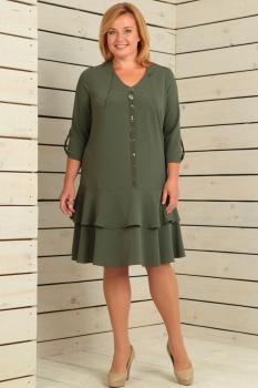 Платье Новелла Шарм 2807 хаки