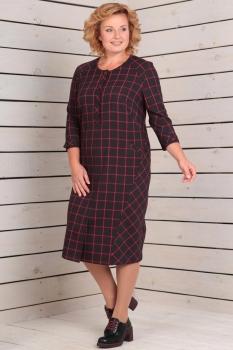 Платье Новелла Шарм 2809 черный+клетка