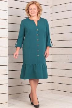 Платье Новелла Шарм 2828 бирюзовые тона