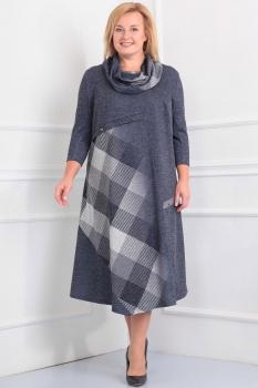 Платье Новелла Шарм 2839 серые тона