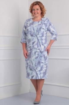Платье Орхидея Люкс 787-1 голубой