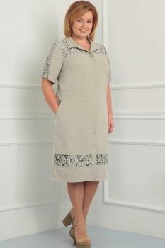 Платье Орхидея Люкс 835-2 Серый