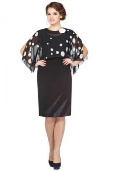 Платье Пама-Стиль 549 черно-белый