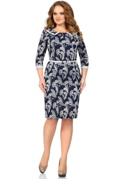 Платье Пама-Стиль 597 синие тона