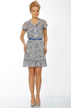 Платье Пама-Стиль 657 синие тона