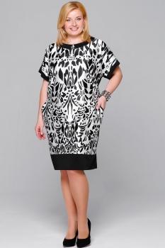 Платье Пама-Стиль 776 черно-белый