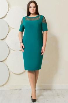 Платье Пама-Стиль 839 бирюзовый оттенок