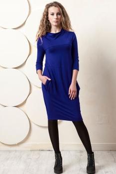 Платье Пама-Стиль 841-1 синий