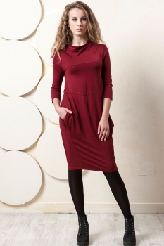 Платье Пама-Стиль 841 бордовый