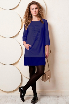 Платье Пама-Стиль 846 темно-синий