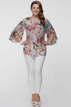 Блузка Panda 373340 серый