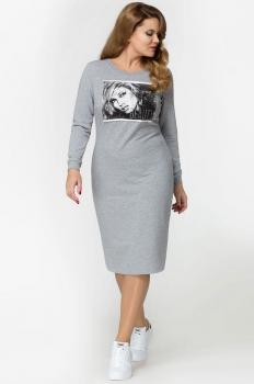 Платье Panda 390780 серый
