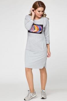 Платье Panda 391180 серый