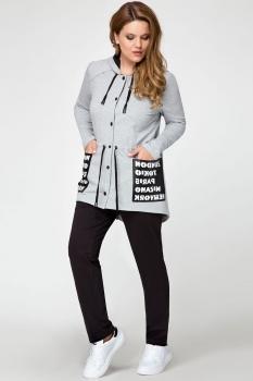 Спортивный костюм Panda 392520 серый+черный