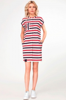 Платье Panda 403180 сине-красный
