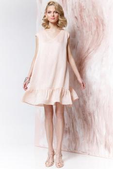 Платье Prestige 3128 бежево-розовые-тона