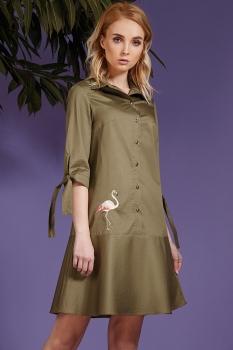 Платье Prestige 3333 олива