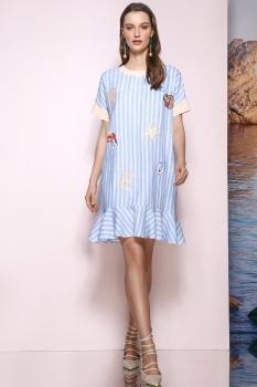 Платье Prestige 3370 голубой