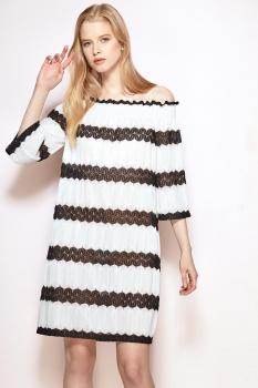 Платье Prestige 3427 бело-черный