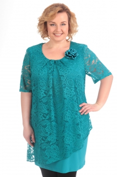 Блузка Pretty 118-4 бирюзовый