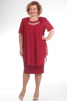 Платье Pretty 210-5 бордовый