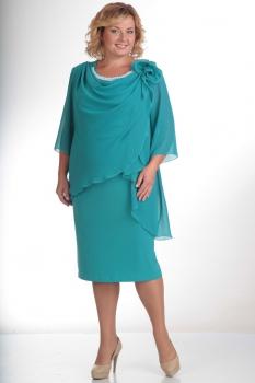 Платье Pretty 335-1 бирюзовый