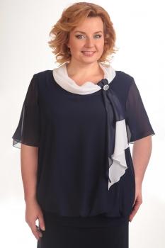 Блузка Pretty 380-2 темно-синий