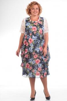 Платье Pretty 435-17 цветы