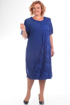 Платье Pretty 585-2 васильковый