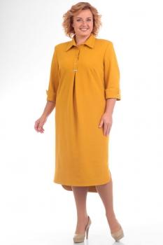 Платье Pretty 586-3 желтые-тона