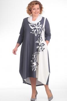 Платье Pretty 660 серо-белый