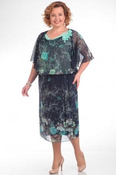 Платье Pretty 669 бирюзовые-тона