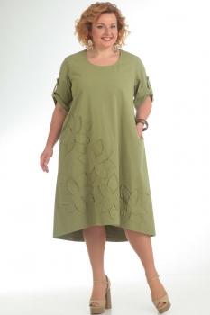 Платье Pretty 674-1 олива
